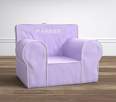 pottery barn oversized anywhere chair guards for walls lavender with white pipe chair® | kids