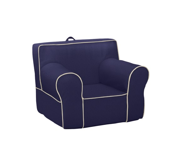 Navy with Stone Piping Anywhere Chair  Pottery Barn Kids