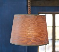 Wood Veneer Drum Pendant | Pottery Barn Kids
