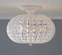 Clear Acrylic Round Flushmount Chandelier | Pottery Barn Kids