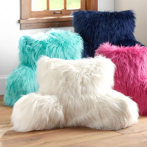 Faux Furrific Lounge Around Pillow Cover  PBteen