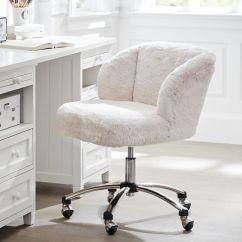 White Fluffy Desk Chair Chairs Wedding Poland 1939 Polar Bear Faux-fur Wingback | Pbteen