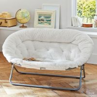 Ivory Sherpa Double Hang-A-Round Chair | PBteen