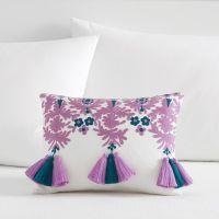 Lennon & Maisy Floral Tassel Pillow Cover