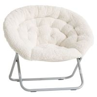 Ivory Sherpa Faux-Fur Hang-A-Round Chair | PBteen