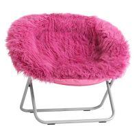 Pink Fur-rific Faux-Fur Hang-A-Round Chair | PBteen