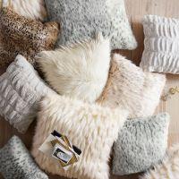 Faux-Fur Pillow Cover, Gray Leopard   PBteen