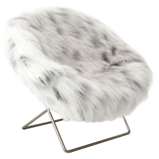 saucer chair for kids covers manchester faux-fur mini hang-a-round phone | pbteen