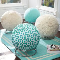 Yoga Ball Chair Base Swing Chairs For Bedrooms Fur Rockin' Roller Desk | Pbteen