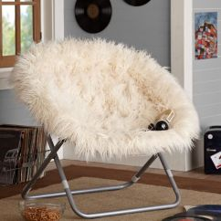 Hang Around Chair Pottery Barn Drop Leaf Dining Table With Folding Chairs Ivory Furlicious Faux-fur Hang-a-round | Pbteen