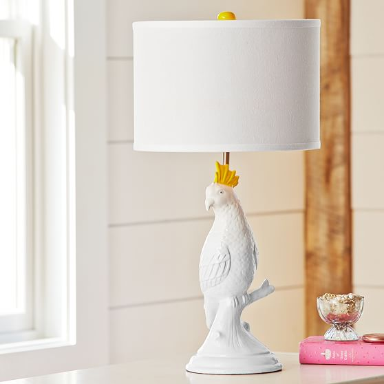Parakeet Ceramic Table Lamp