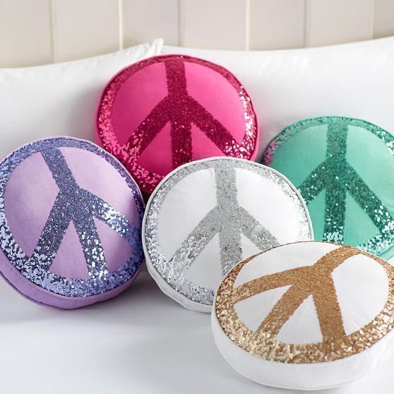 Sparkle Peace Pillows  PBteen