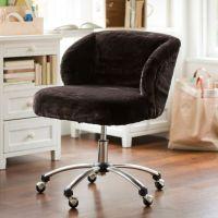 Luxe Faux-Fur Wingback Desk Chair | PBteen