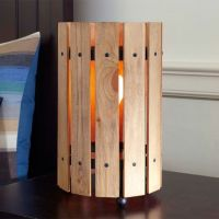 Weathered Wood Table Lamp