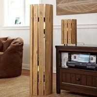 Weathered Wood Floor Lamp | PBteen