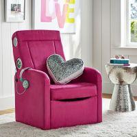Suede Flip Out Ottoman Speaker Chair | PBteen