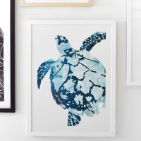 Tropical Sea Turtle Wall Art by Minted   PBteen