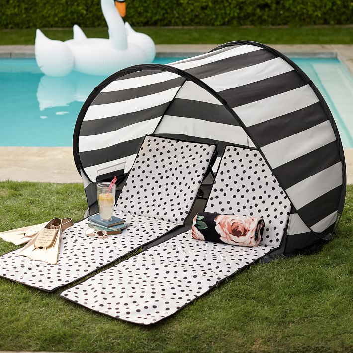 The Emily & Meritt Beach Lounger and Sun Shade Tent