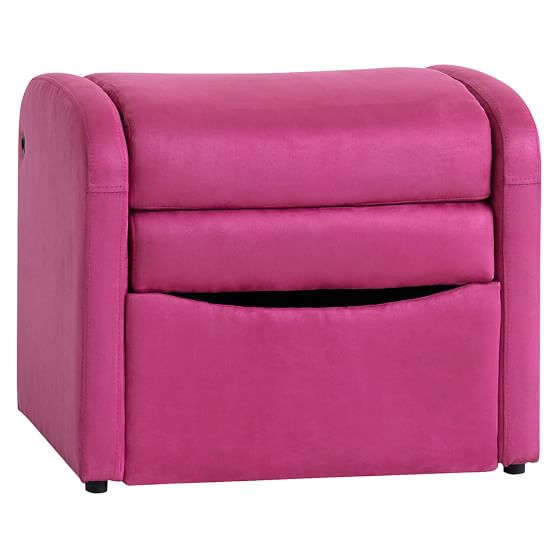 Suede Flip Out Ottoman Speaker Chair  PBteen