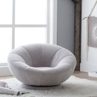 Velvet Groovy Swivel Chair