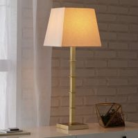 Candlestick Table Lamp - Square (Polished Brass) | west elm
