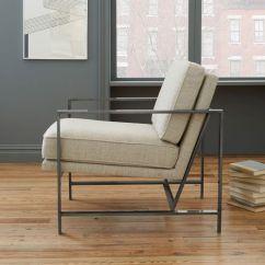 Sofas Score Jacqueline Sofa Metal Frame Upholstered Chair | West Elm
