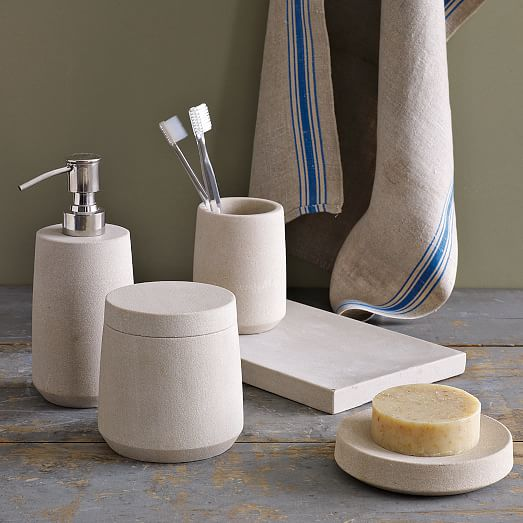 Stoneware Bath Accessories  West Elm