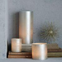 Metallic Pillar Candleholders | west elm