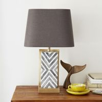 Chevron Deco Table Lamp - Small | west elm