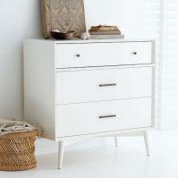 Mid-Century 3-Drawer Dresser - White | west elm