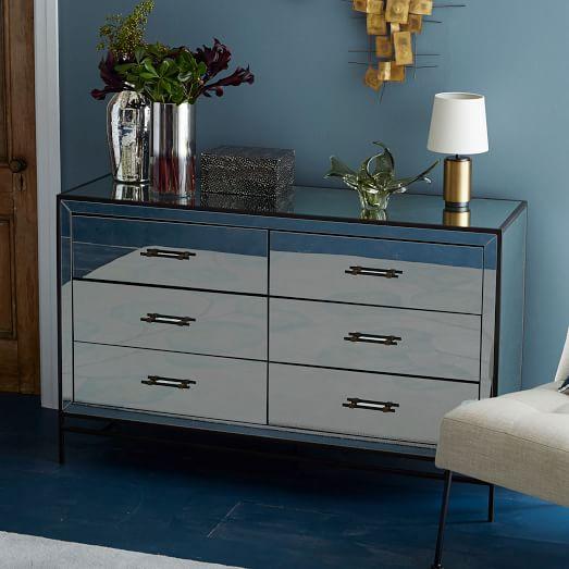Mirrored 6Drawer Dresser  west elm