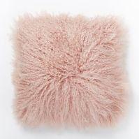 Mongolian Lamb Pillow Cover - Rosette | west elm
