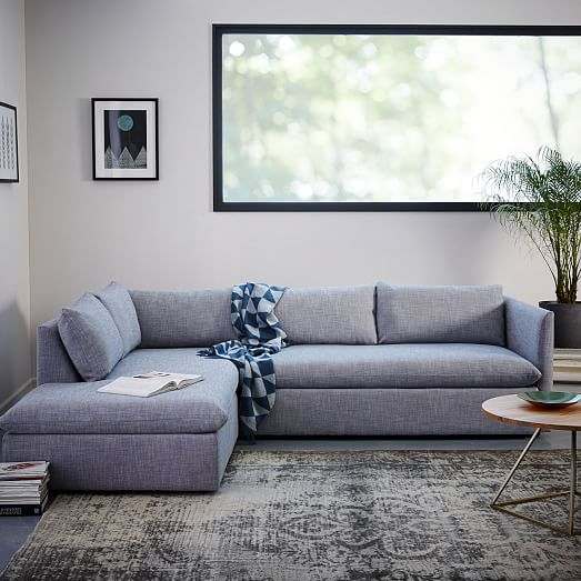 Shelter 2Piece Terminal Chaise Sectional  west elm