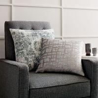 Distressed Ornament Velvet Pillow Cover - Rosette | west elm