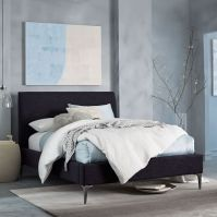Deco Upholstered Bed - Yarn-Dyed Linen Weave | west elm