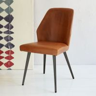 Crawford Leather Dining Chair   west elm
