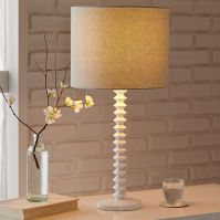 Candlestick Table Lamp - Ribbed (White) | west elm