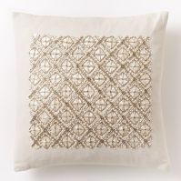 Embellished Trellis Pillow Cover