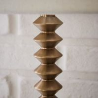 Candlestick Table Lamp - Ribbed (Antique Brass) | west elm