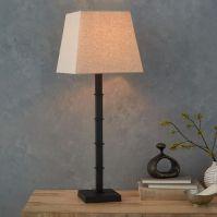 Candlestick Table Lamp - Square (Black) | west elm