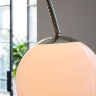 Overarching Acrylic Shade Floor Lamp - Polished Nickel ...