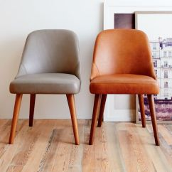 Saddle Office Chair West Elm Hans Wegner Chairs Mid-century Leather Dining  