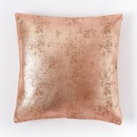 St. Jude Metallic Foil Pillow Cover - Rose Gold | west elm