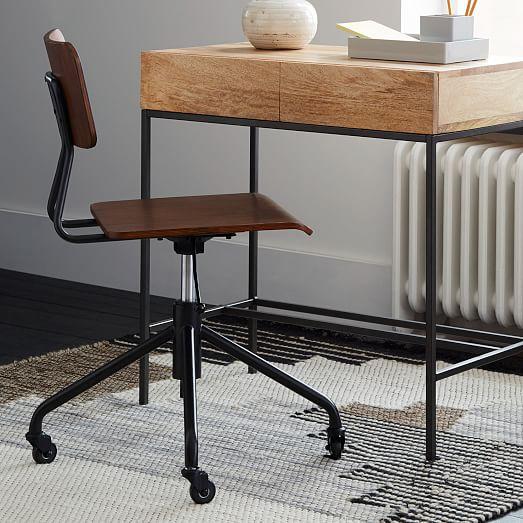 Adjustable Industrial Office Chair  west elm