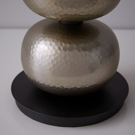 Abacus Hammered Metal Table Lamp