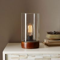 Bubble Glass Cylinder Table Lamp | west elm