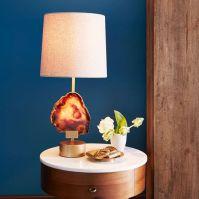 Agate Table Lamp - Antique Brass   west elm