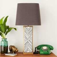 Chevron Deco Table Lamp - Large | west elm