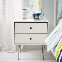 Heston Mid-Century Nightstand - White | west elm