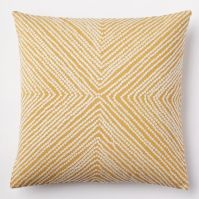 Diamond Dot Crewel Pillow Cover - Golden Gate | west elm